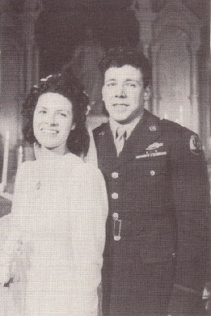 Don & Virginia on their wedding day